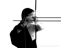 """Relaxed focus"" from the series Kyudo - The art of Zen Archery"